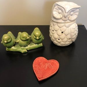 Ceramic heart tray